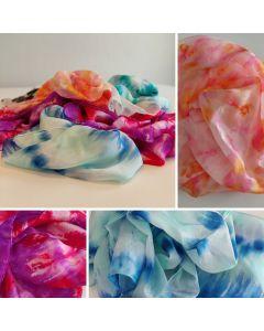 Voorbeelden tie-dye sjaals