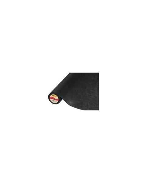 Vlieseline zwart plakbare tussenvoering voor zijde / 90 cm breed
