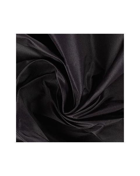 Taffetas / Zwart / 140 cm breed