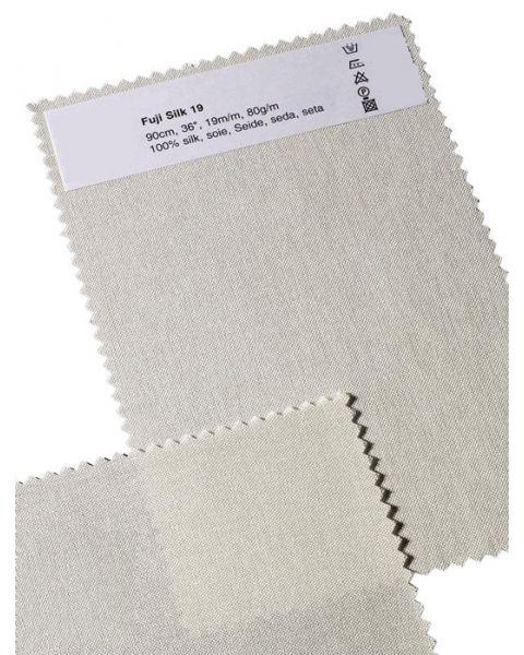 Sales per meter | Fuji zijde / Natuur / 90 cm breed