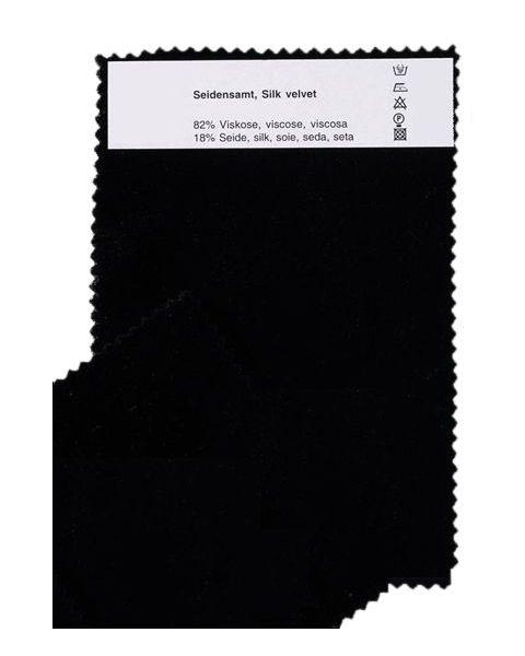Zijde-Viscose Fluweel / Zwart / 140 cm breed