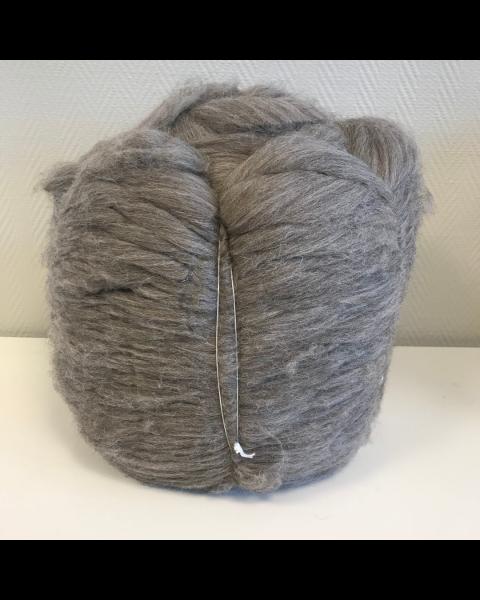 Bump 10 kilo Lontwol Antraciet/Bruin gemeleerd
