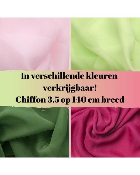 Chiffon 3.5 / Kleur / 140 cm breed