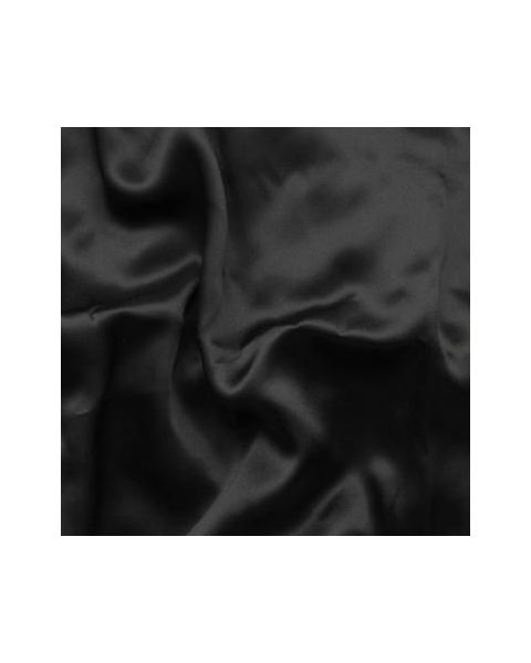 Crepe Satin 19 / Zwart / 140 cm breed