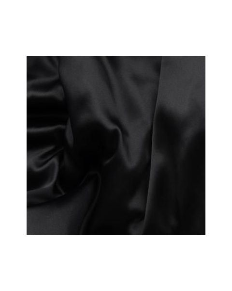 Crepe Satin 19 Stretch / Zwart / 140 cm breed