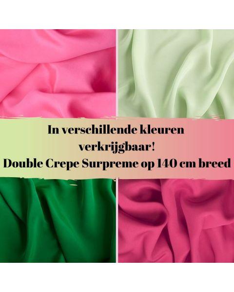 Double crepe surpreme in diverse kleuren verkrijgbaar!