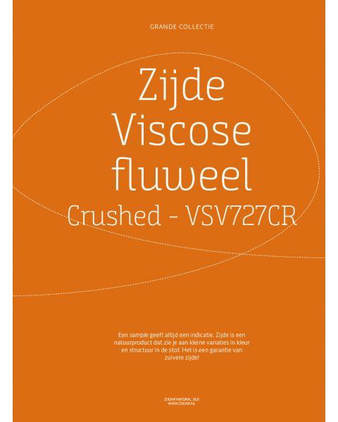 Grande Collectie stalenkaart (los) - Zijde-Viscose Fluweel Crushed Kleur