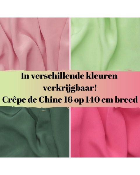 In diverse kleuren verkrijgbaar crepe de chine 16