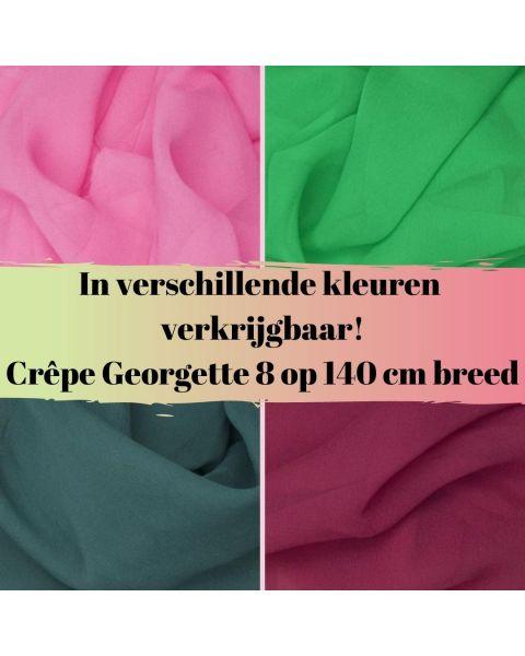 In diverse kleuren verkrijgbaar crepe georgette 8