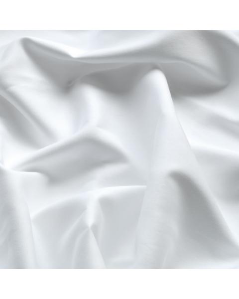 Katoen satijn / Wit (gebleekt) / 162 cm breed