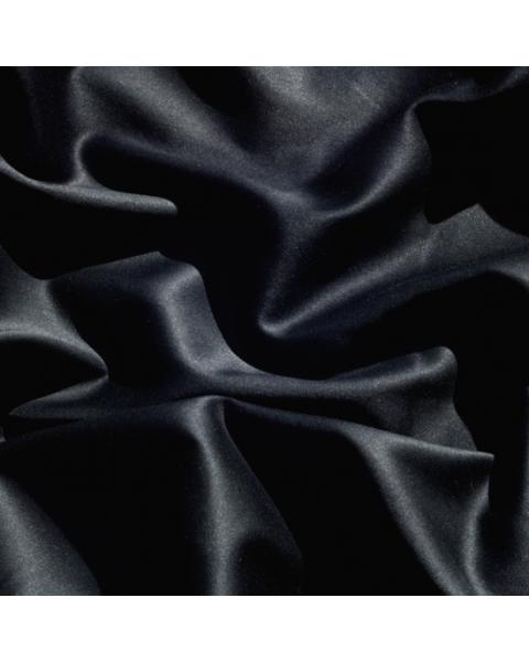 Katoen satijn / Zwart / 162 cm breed