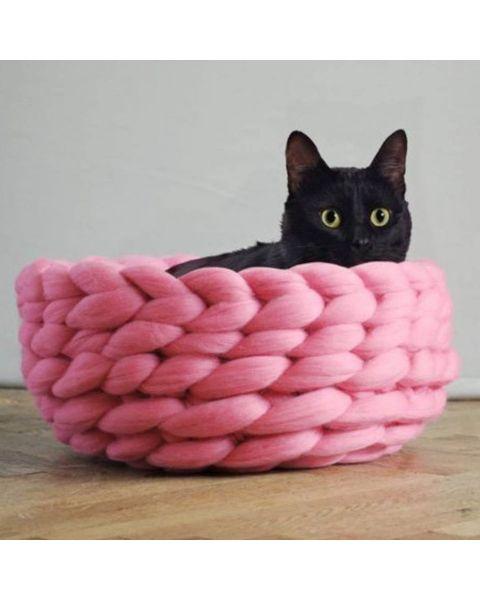 DIY Kattenmand XXL wol | Verschillende kleuren| Incl. video
