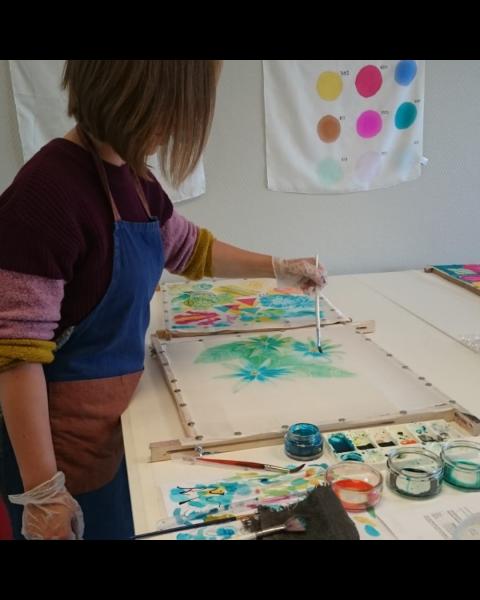 Online workshop Zijdeschilderen A - de basis