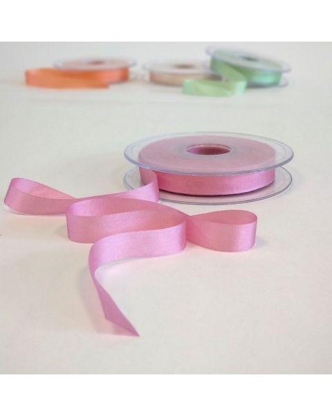 Zijden lint roze | 13 mm breed | Per meter