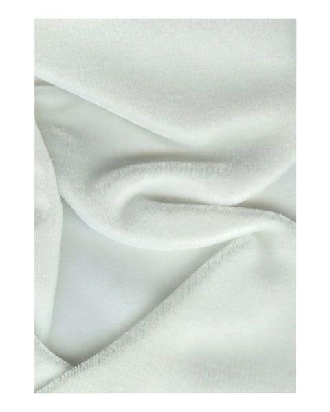 Zijde-Viscose Fluweel / Wit / 140 cm breed
