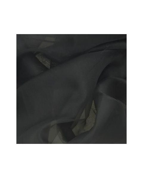 Organza Couture / Zwart / 140 cm breed