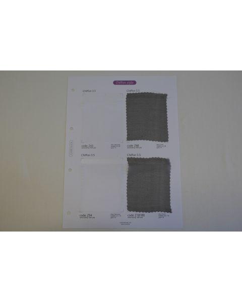 Klassieke Collectie stalenkaart (los) - Chiffon