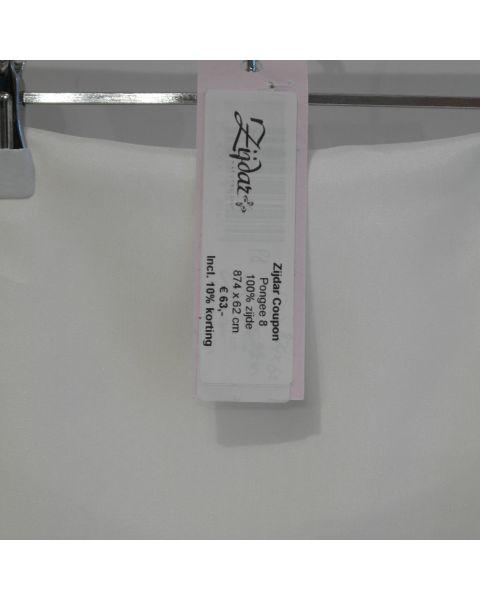 Zijdar coupon Pongee 8 / 100% zijde / 874 x 62 cm