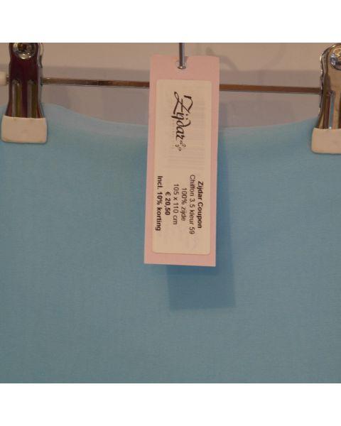 Zijdar coupon Chiffon 3.5 kleur 59 / 100% zijde / 105 x 110 cm