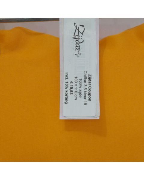 Zijdar coupon Chiffon 3.5 kleur 18 / 100% zijde / 100 x 110 cm