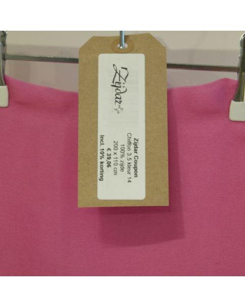 Zijdar coupon Chiffon 3.5 kleur 14 / 100% zijde / 200 x 110 cm