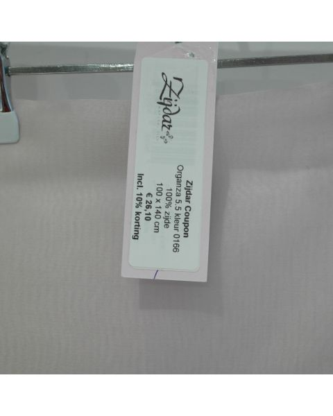 Zijdar coupon Organza 5.5 kleur 0166 / 100% zijde / 100 x 140 cm