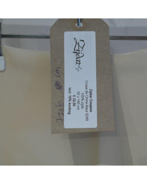 Zijdar coupon Crepe de Chine kleur 0249 / 100% zijde / 50 x 140 cm