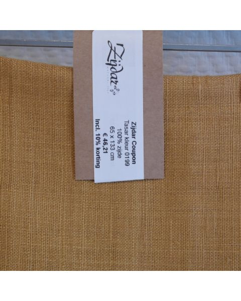 Zijdar coupon Tasar kleur 0199 / 100% zijde / 65 x 133 cm