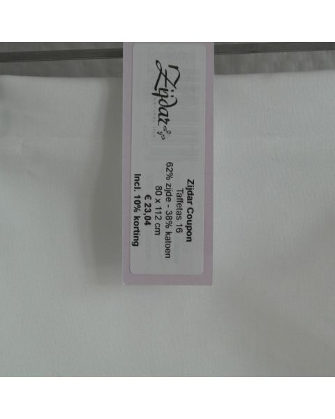Zijdar coupon Taffetas 16 / 62% zijde - 38% katoen / 80 x 112 cm