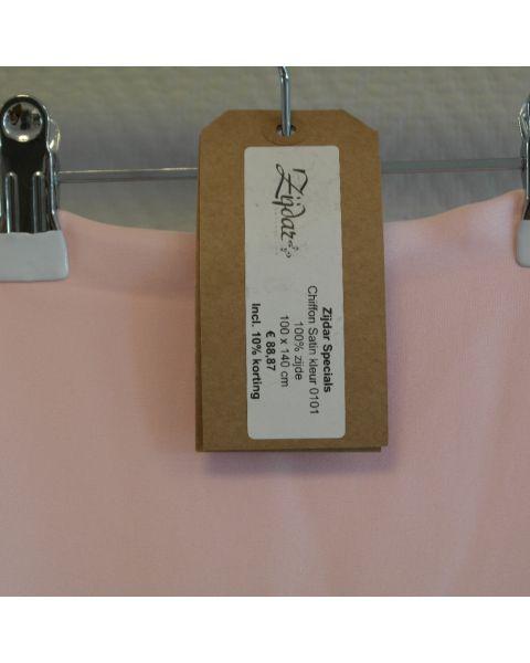 Zijdar coupon Chiffon Satin kleur 0101 / 100% zijde / 100 x 140 cm