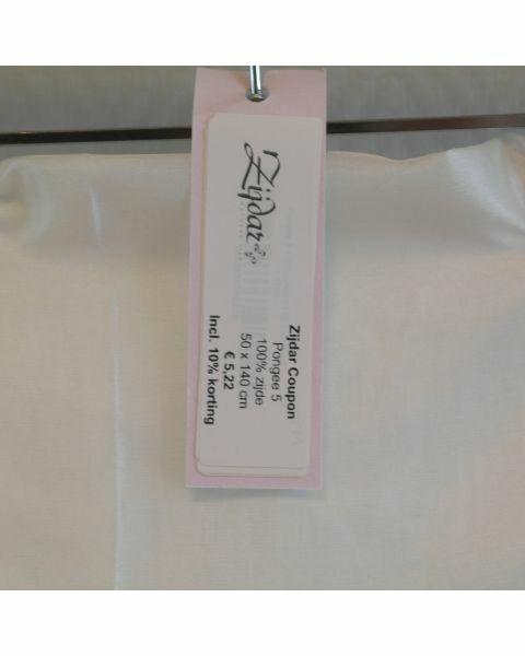 Zijdar coupon Pongee 5 / 100% zijde / 50 x 140 cm