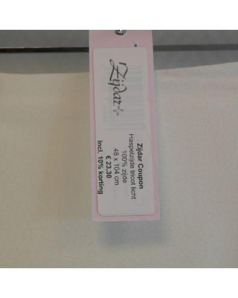 Zijdar coupon Haspelzijde Tricot Licht / 100% zijde / 48 x 104 cm