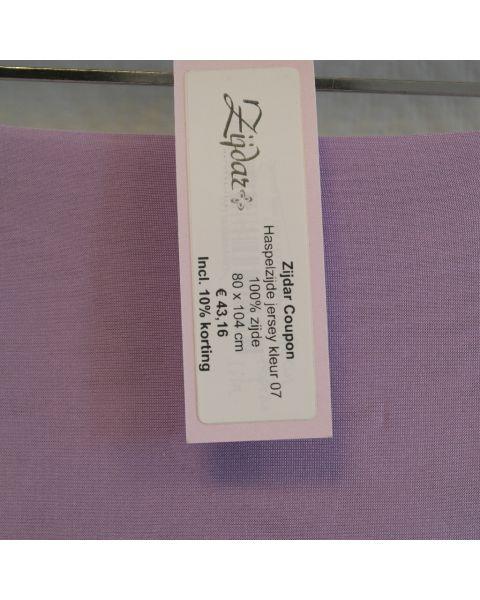 Zijdar coupon Haspelzijde Jersey kleur 07 / 100% zijde / 80 x 104 cm