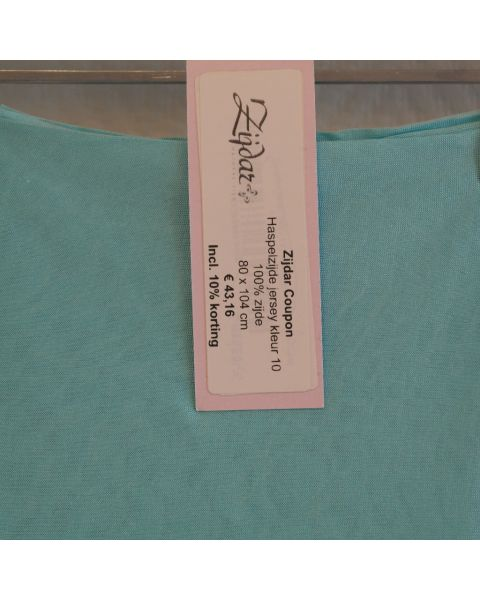 Zijdar coupon Haspelzijde Jersey kleur 10 / 100% zijde / 80 x 104 cm