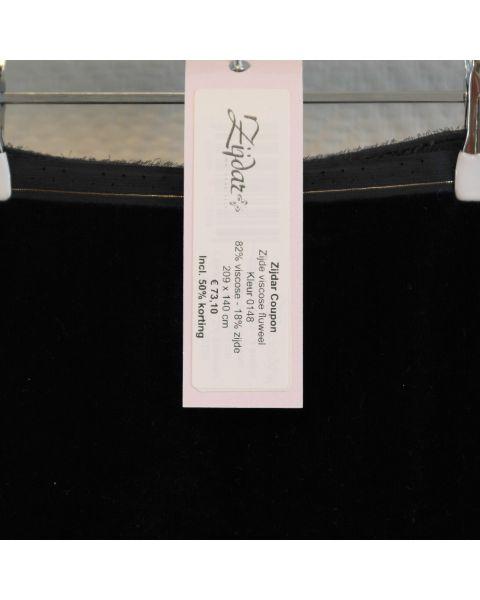 Zijdar coupon Zijde-viscose Fluweel kleur 0148 / 82% viscose - 18% zijde / 209 x 140 cm