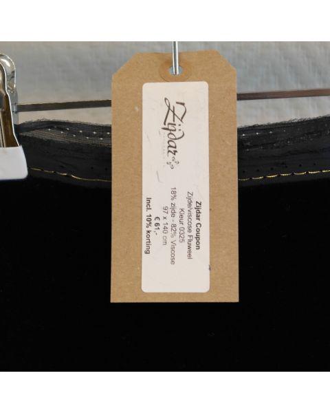 Zijdar coupon Zijde-viscose Fluweel kleur 0148 / 82% viscose - 18% zijde / 97 x 140 cm