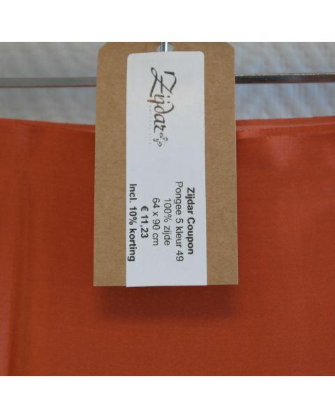 Zijdar coupon Pongee 5 kleur 49 / 100% zijde / 64 x 90 cm