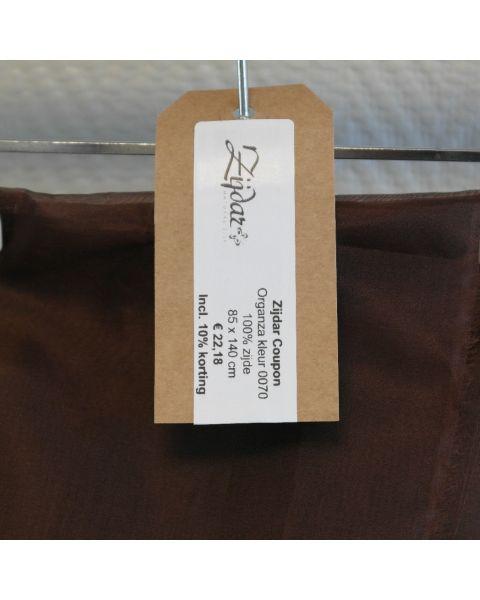 Zijdar coupon Organza 5.5 kleur 0070 / 100% zijde / 85 x 140 cm