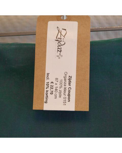 Zijdar coupon Organza 5.5 kleur 0151 / 100% zijde / 87 x 140 cm