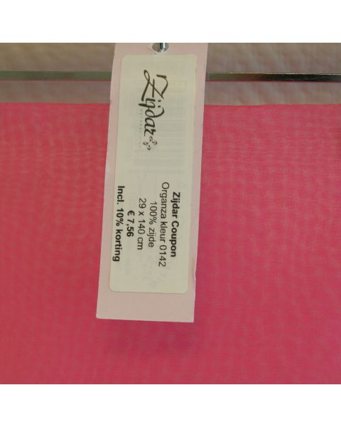 Zijdar coupon Organza 5.5 kleur 0142 / 100% zijde / 29 x 140 cm