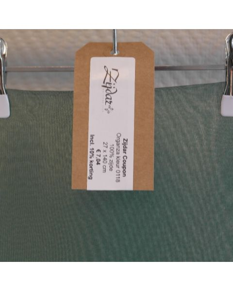 Zijdar coupon Organza 5.5 kleur 0118 / 100% zijde / 27 x 140 cm