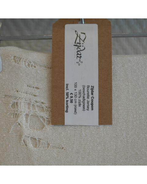 Zijdar coupon Bourette Jersey / 100% zijde / 100 x 130 cm rond / Met beschadigingen