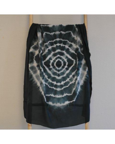 Tie-dye sjaal crêpe de chine - 90 x 90 cm