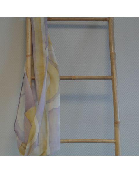Handbeschilderde wollen etamine sjaal - gaatje