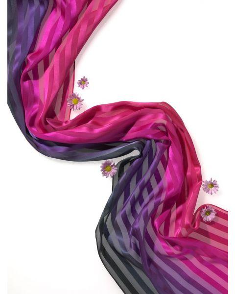 Satijn Streep sjaal - 180 x 45 cm