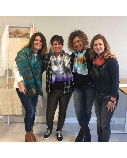 Workshop zijden sjaal verven in je favoriete kleuren