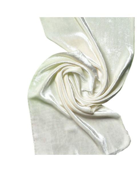 Zijde-Viscose Fluweel shawl - 180 x 32 cm