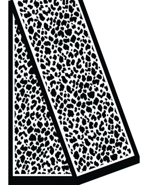 Zijde-Viscose Fluweel shawl - 180x32 Luipaard