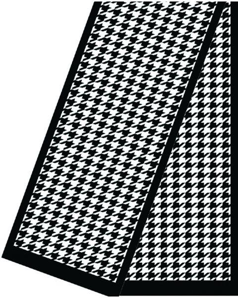 Zijde-Viscose Fluweel shawl - 180x32 Pied de Coq