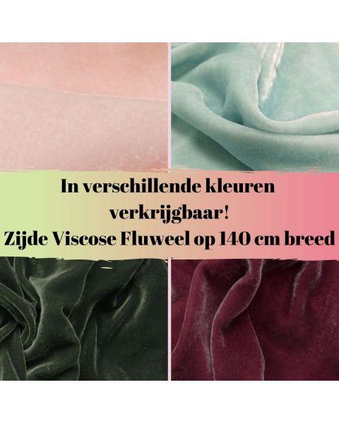 Zijde - Viscose Fluweel - Kleur
